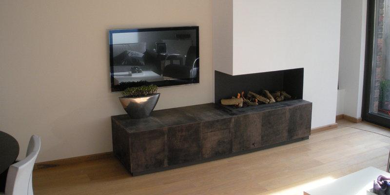 beautiful affordable compacte opstelling met hoek gashaard with bio ethanol haard hoekmodel with. Black Bedroom Furniture Sets. Home Design Ideas