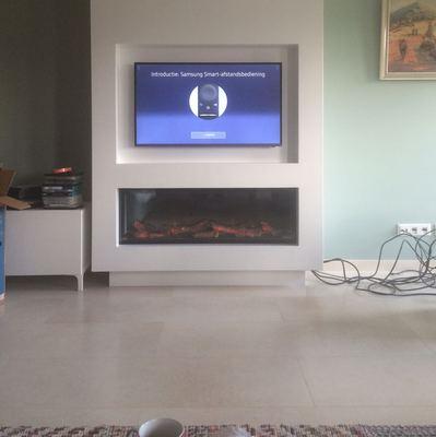 Voorkeur Elektrische haard met ombouw en tv nis | kachels.nl &FY56