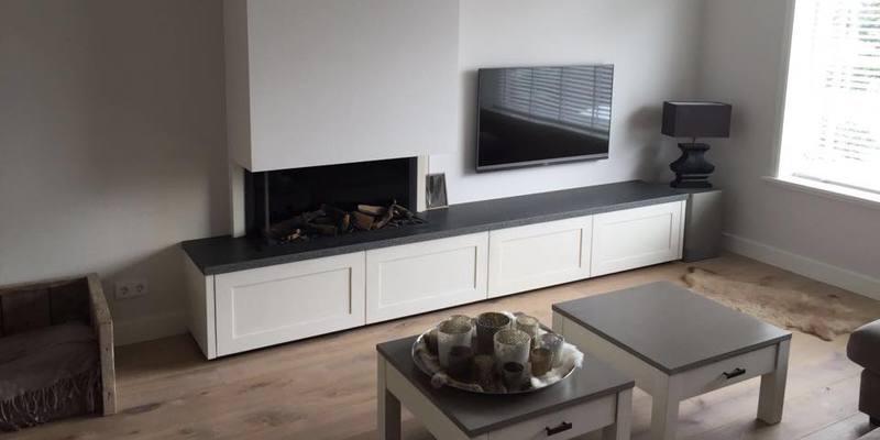 Ongekend Driezijdige gashaard incl tv meubel   kachels.nl JO-27